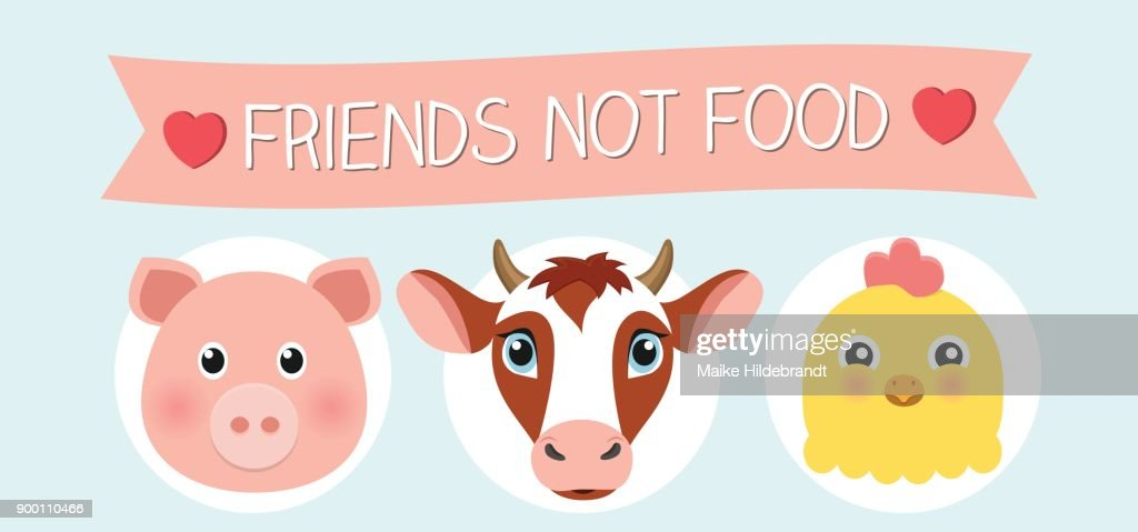 friends not food Flat Design