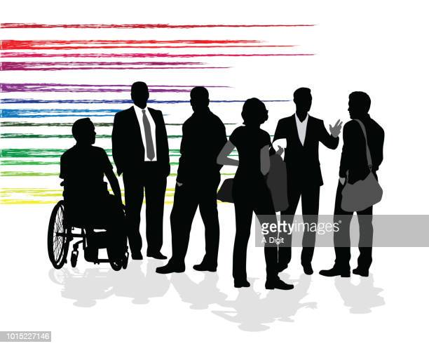 friends of all kinds - disability stock illustrations, clip art, cartoons, & icons
