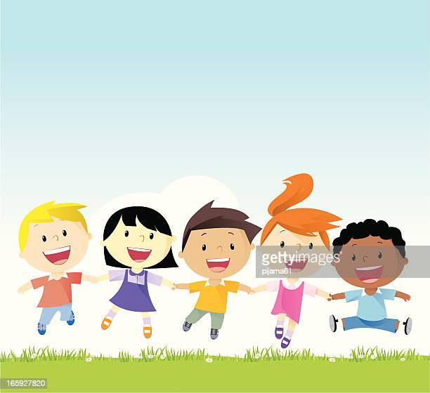 friends - child stock illustrations