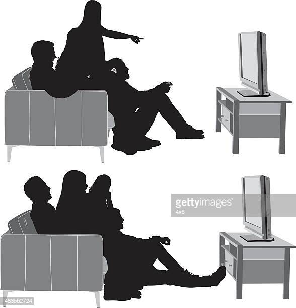 Watching Tv Stock Illustrations And Cartoons Getty Images