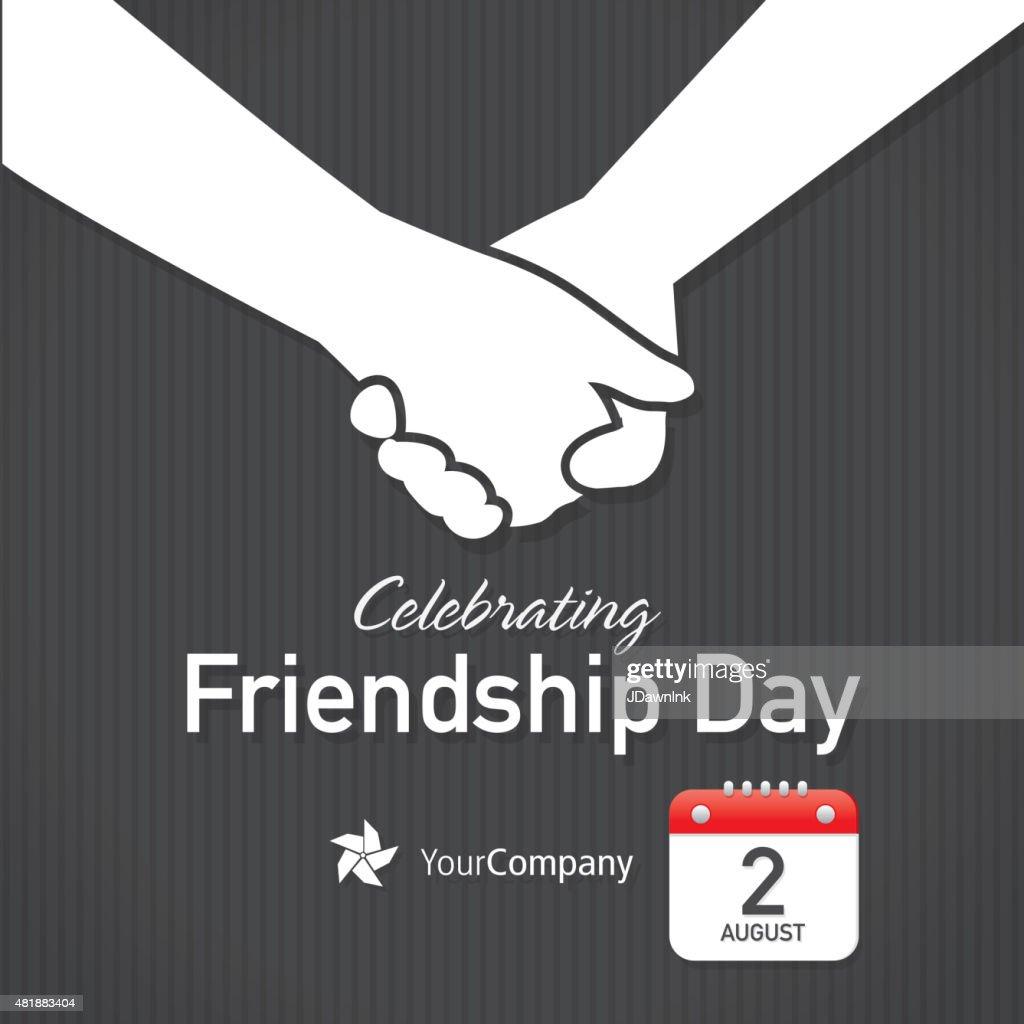 Friendship Appreciation Day Calendar Design Layout Template Vector ...