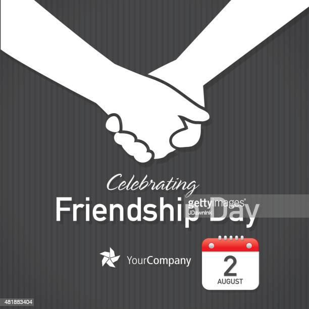 Friendship Appreciation Day Calendar design layout template