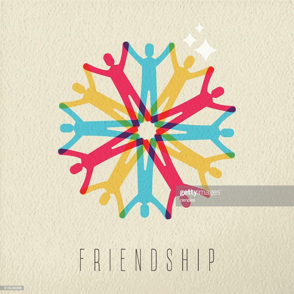 Friendship concept diversity people color design