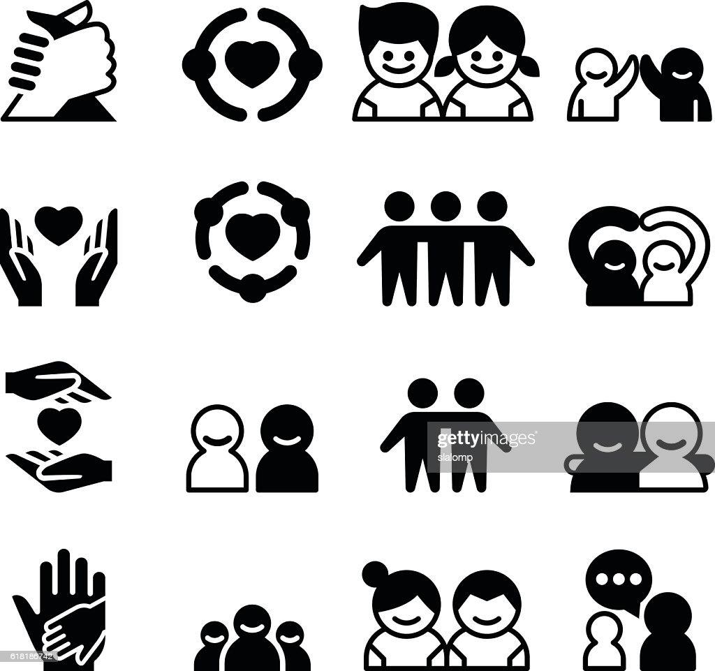 Friendship & Friend icons