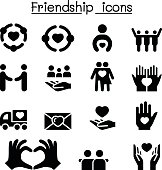 Friendship icon set
