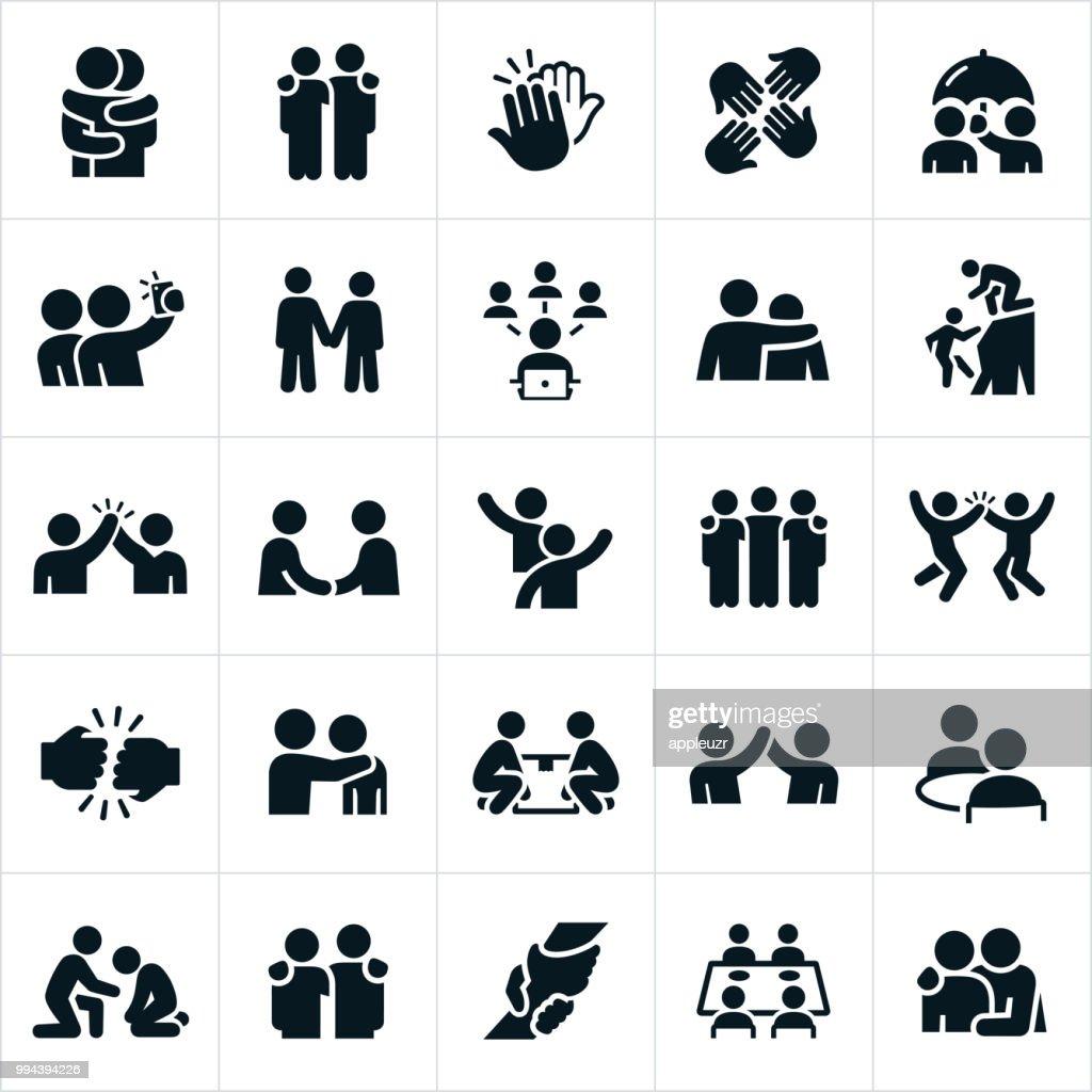 Icone dell'amicizia : Illustrazione stock