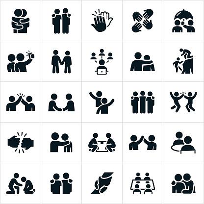 Friendship Icons - gettyimageskorea