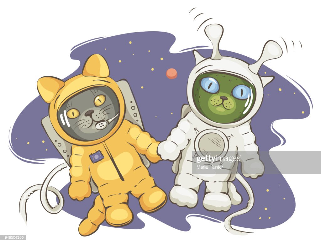 Friendship on space : Vector Art