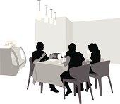 Friends'n Food Vector Silhouette