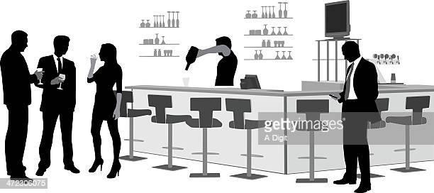 ilustraciones, imágenes clip art, dibujos animados e iconos de stock de amigos'nnightlife - bar