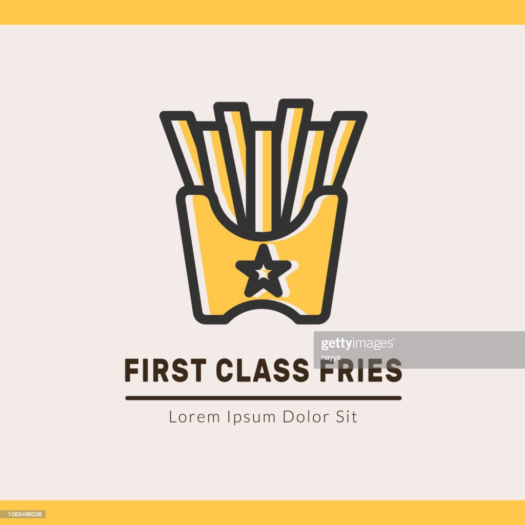 Fries logotype template for web