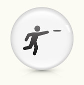 Frisbee icon on white round vector button
