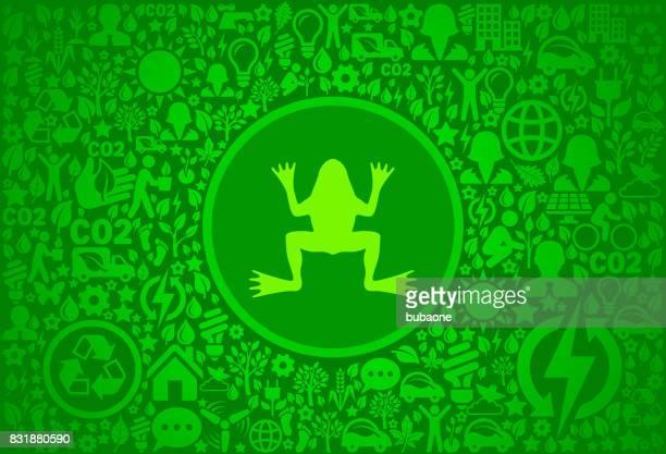 ilustraciones, imágenes clip art, dibujos animados e iconos de stock de rana entorno verde vector icono patrón - modelos del cuerpo humano
