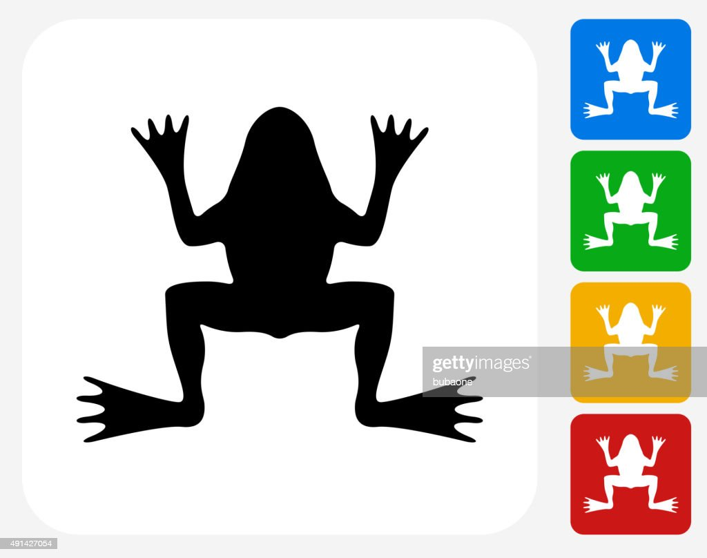 Frog Icon Flat Graphic Design