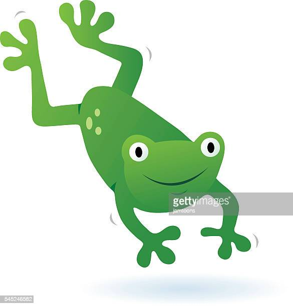 frog jumping - jumping stock illustrations