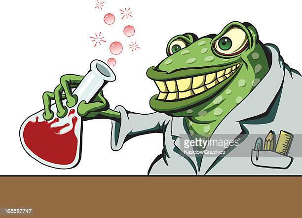 Frog Mad Scientist with Prince Potion