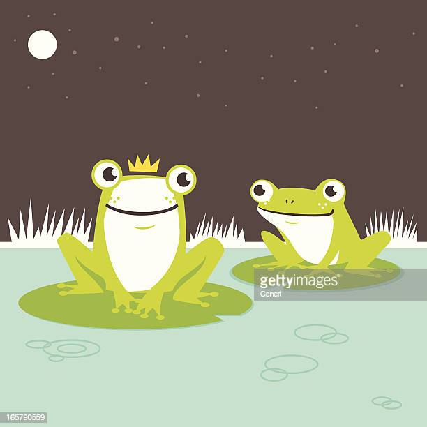 frog prince - lily stock illustrations, clip art, cartoons, & icons