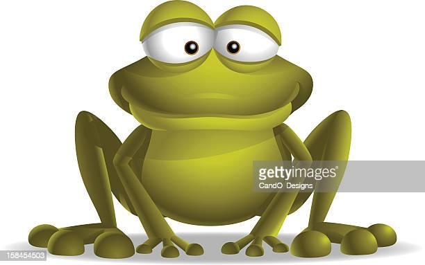 小型のカエル - 小型のカエル点のイラスト素材/クリップアート素材/マンガ素材/アイコン素材
