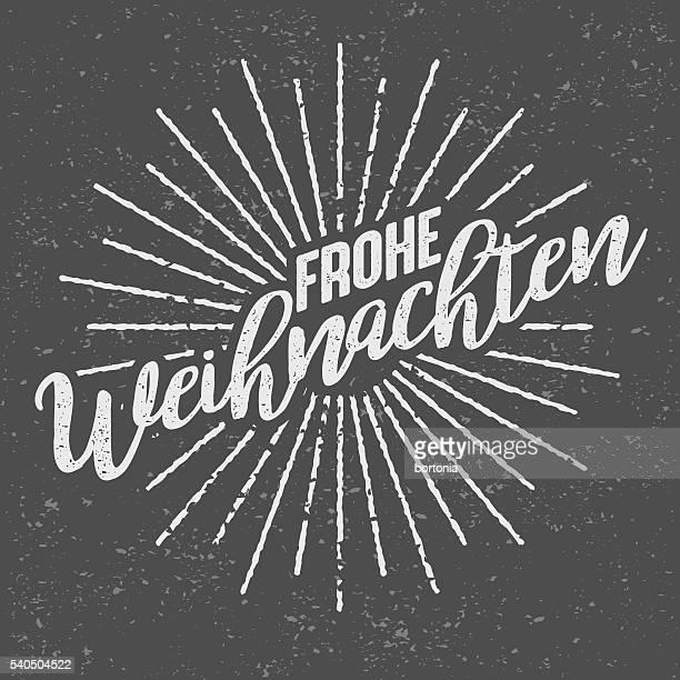 Frohe Weihnachten Deutsch ('Fröhlich Christmas') klassisch-Siebdruck