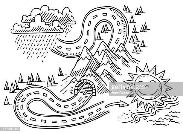 ilustraciones, imágenes clip art, dibujos animados e iconos de stock de lluvia y domingos de vacaciones viajes concepto de ilustración - sol en la cara