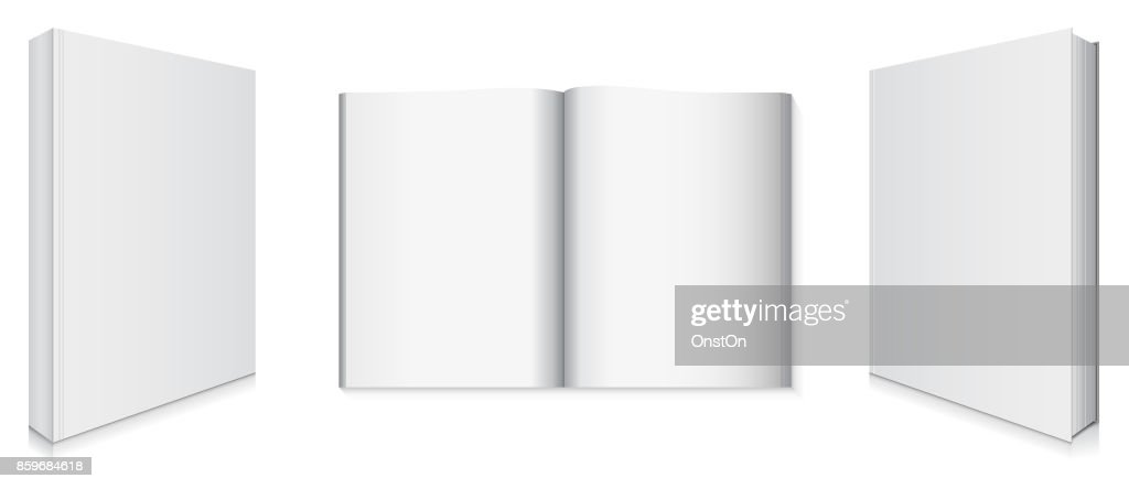 Front and Back Book Covers and Blank Pages