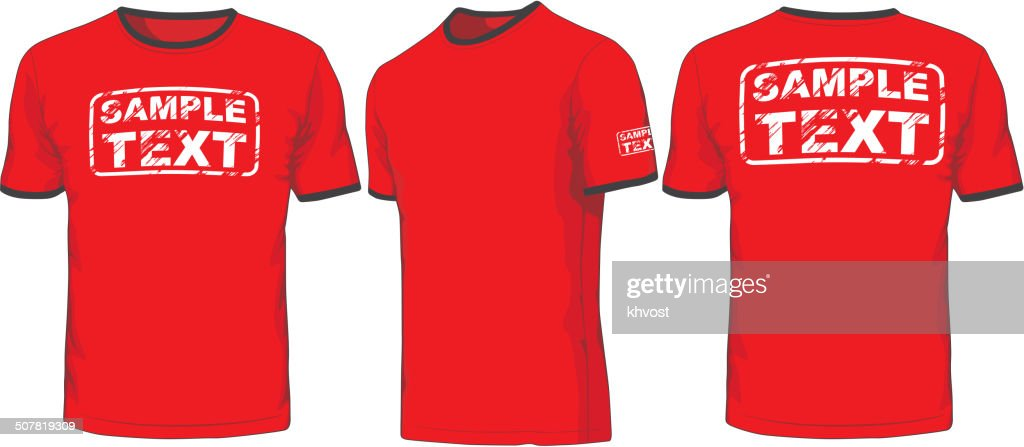 Front, back and side views of t-shirt.