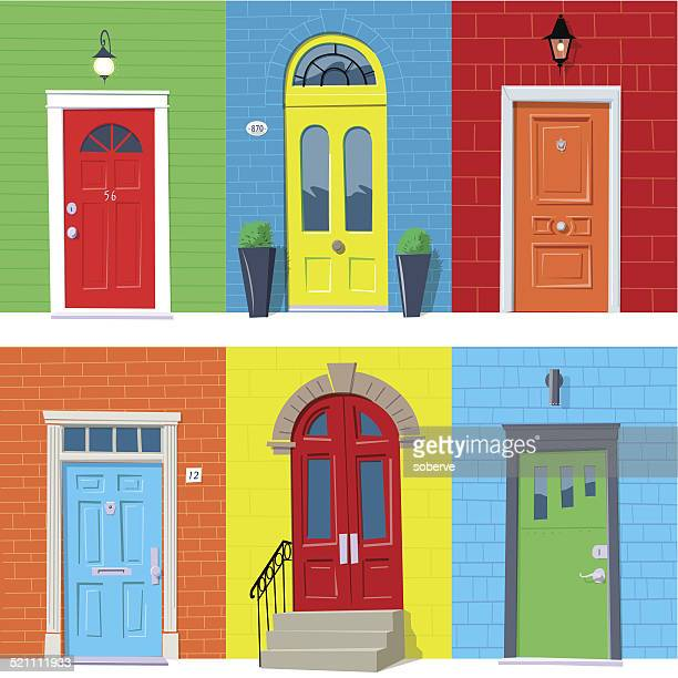 Front Door Stock Illustrations And Cartoons Getty Images