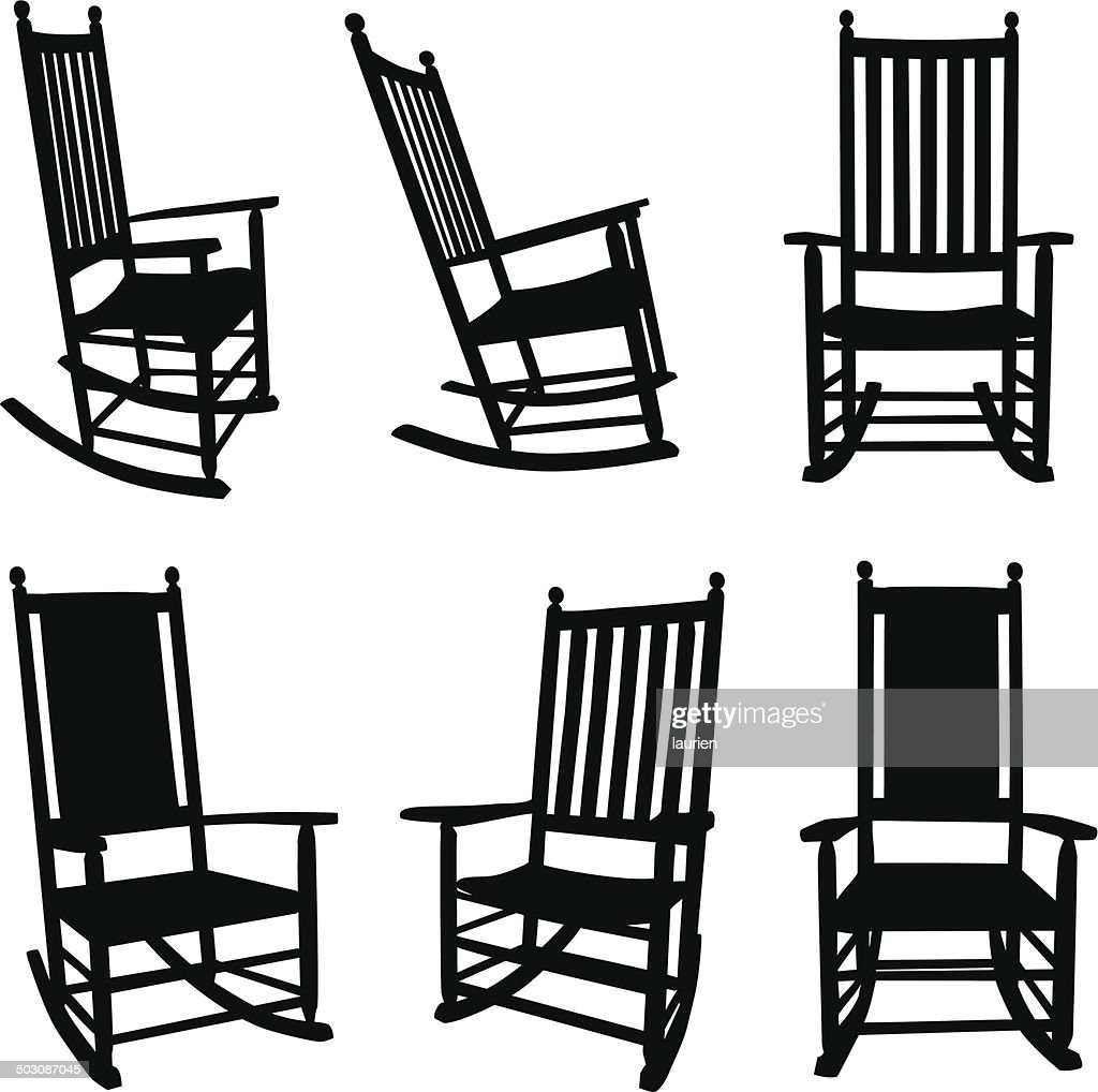Front Porch Rocking Chairs Vector Art | Getty Images