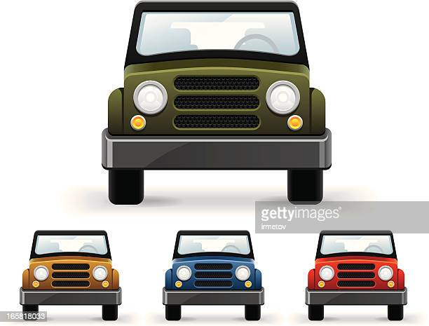 front view car - suv stock illustrations, clip art, cartoons, & icons