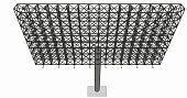 Front view of blank advertising billboard steel structure size 16 by 32 meters about 30 meters high can be use for advertising design or send message to public or any purpose on pubic relations or PR.