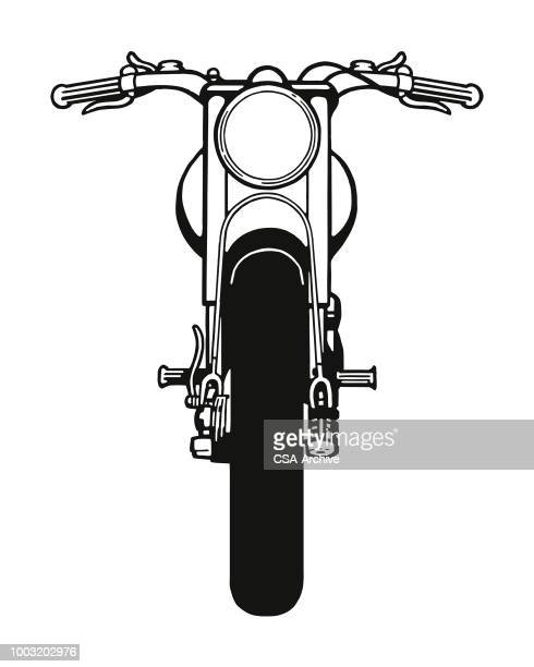 illustrations, cliparts, dessins animés et icônes de vue de face de moto - moto