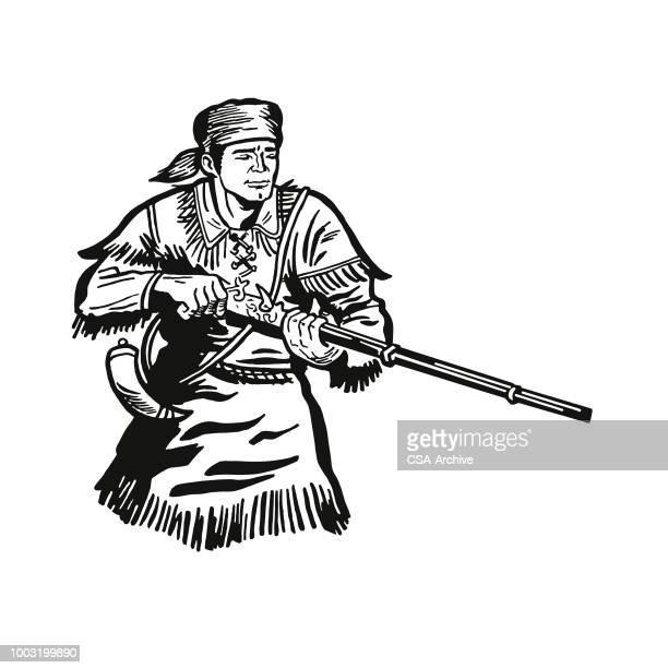 Frontiersman Holding a Shotgun