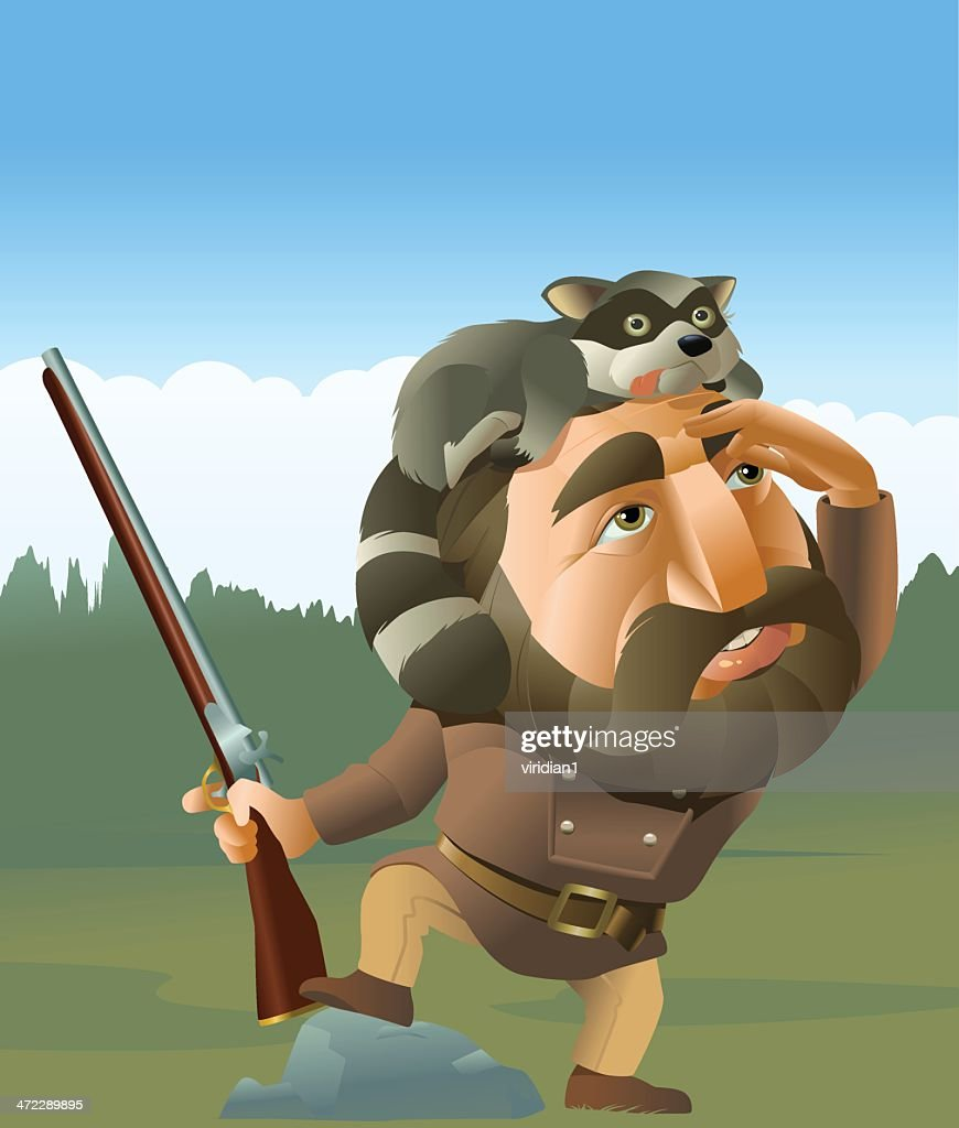 Frontiersman : stock illustration