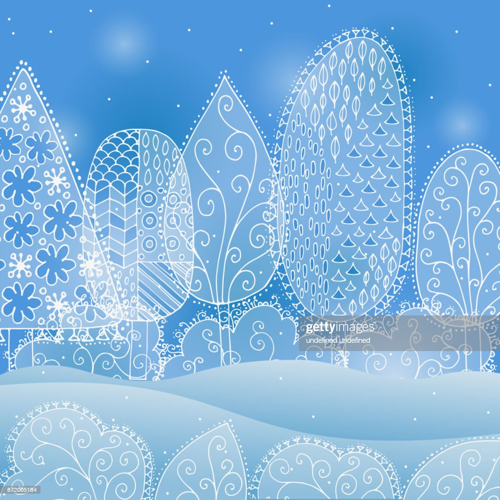 frozen lace forest winter background