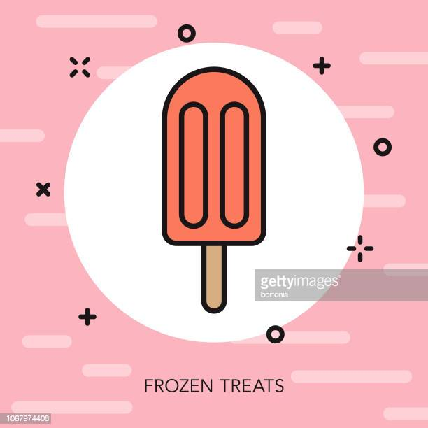 frozen treats thin line dessert icon - flavored ice stock illustrations, clip art, cartoons, & icons