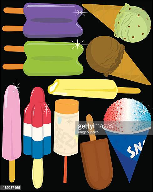 frozen treats - flavored ice stock illustrations, clip art, cartoons, & icons