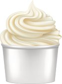 Frozen Yogurt illustration.
