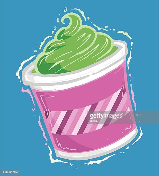 frozen yogurt - frozen yogurt stock illustrations, clip art, cartoons, & icons