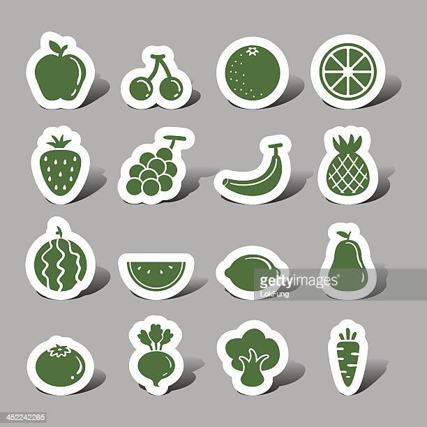 fruit and vegetable interface icons - common beet stock illustrations, clip art, cartoons, & icons