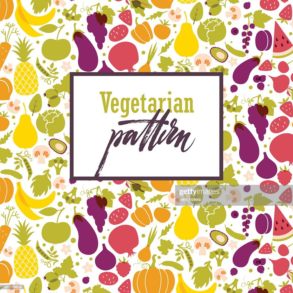 Fruit and vegetable rainbow pattern