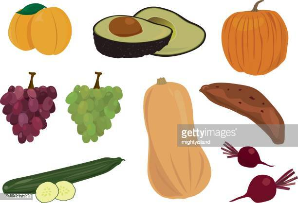 fruit and vegetables - common beet stock illustrations, clip art, cartoons, & icons
