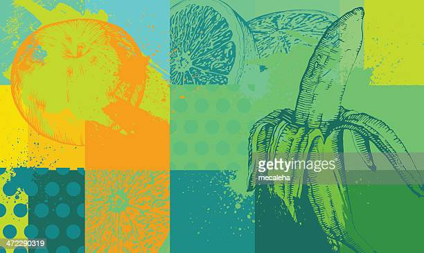 fruit background - juice drink stock illustrations, clip art, cartoons, & icons