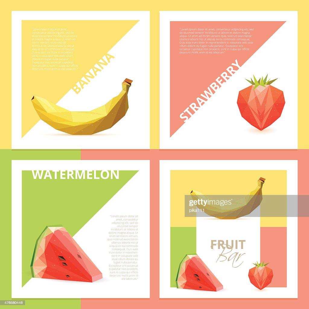 fruit bar graphic design cards flyers or brochures template mockups
