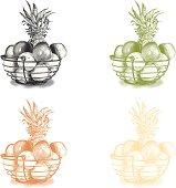 Fruit Basket Design Elements