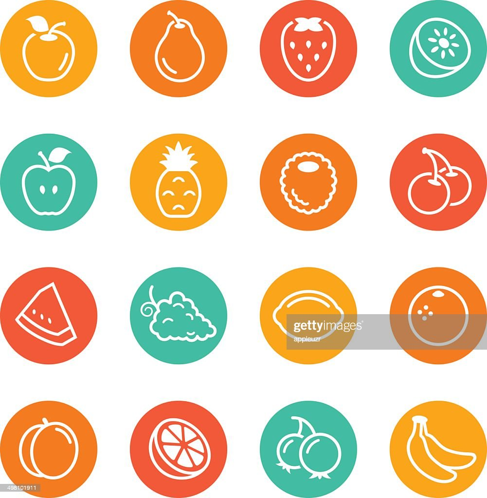 Fruit Circle Icons