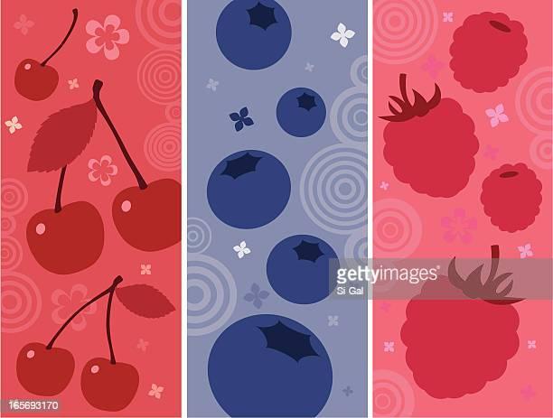 フルーツカクテル - ブルーベリー点のイラスト素材/クリップアート素材/マンガ素材/アイコン素材