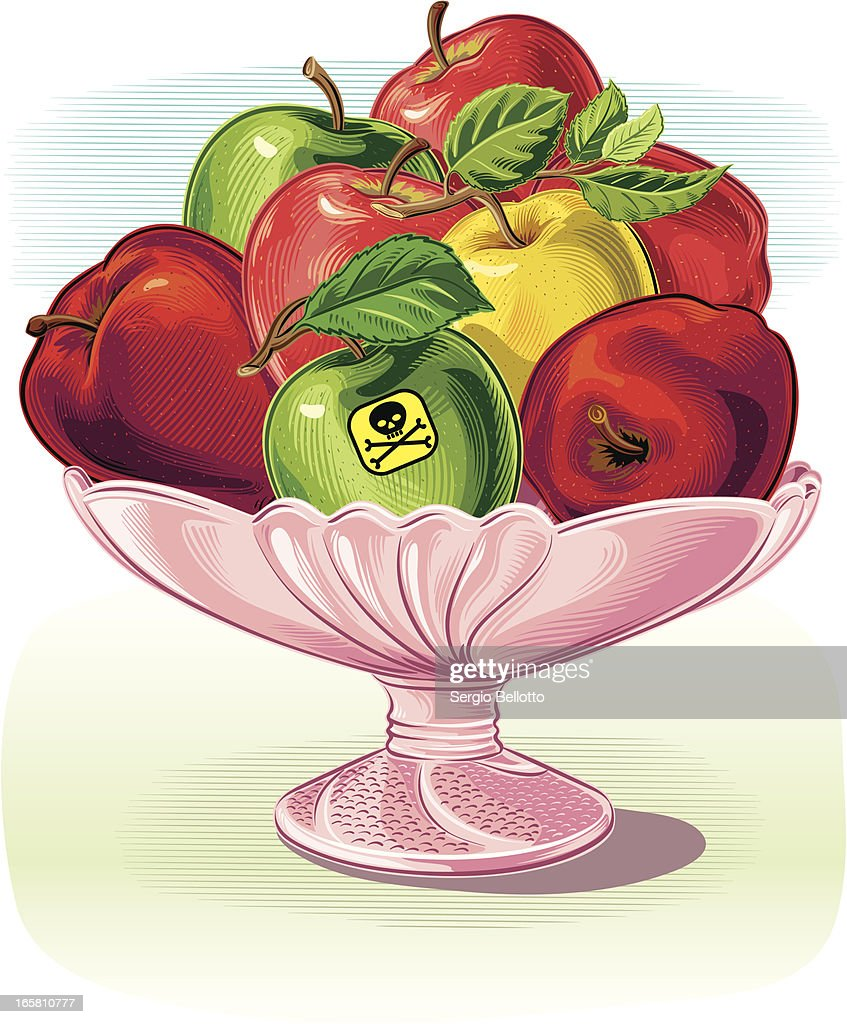 fruit dish with poisoned Apple