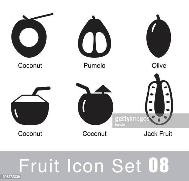 Icono de diseño plano de frutas