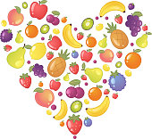 Fruit Fruits Heart Shape
