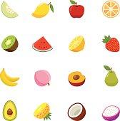 Fruit full color flat design icon.